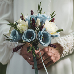 Brudebuket i papir